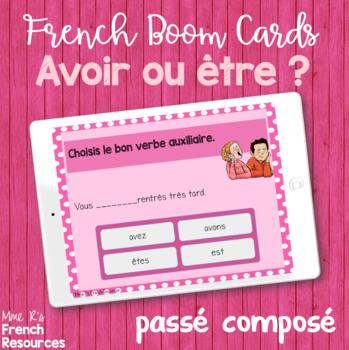 French passé composé task cards - Boom cards