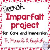 French imparfait PowerPoint project / Projet d'écriture pour l'imparfait