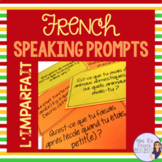 French speaking activity - imparfait speaking prompt task cards