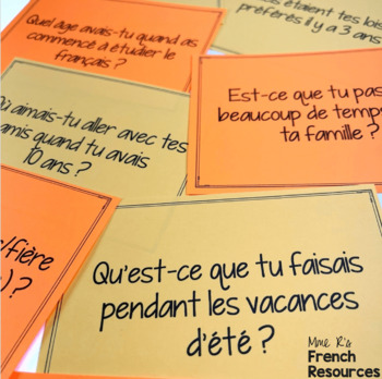 French speaking activity - imparfait speaking prompt cards COMMUNICATION ORALE