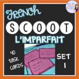 French imparfait verbs Scoot game, set 1