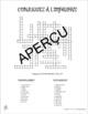 French imperfect tense crossword puzzles - mots croisés l'imparfait