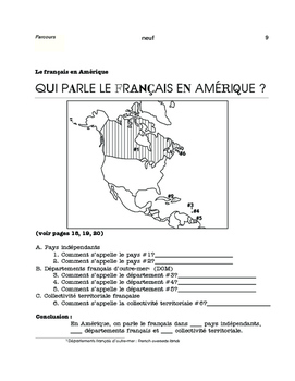 French in Europe and in the Americas - Content-based maps - FR 1