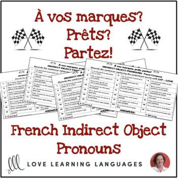 French indirect object pronouns activity - À vos marques, prêts, partez!