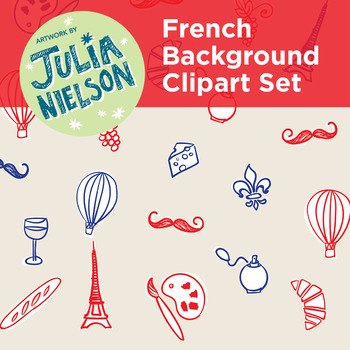 French inspired background and clipart