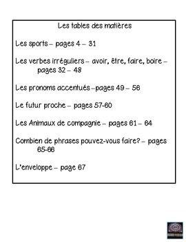 French interactive notebook #3 - cahier interactif