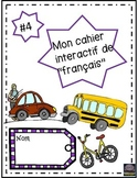 French interactive notebook #4 - cahier interactif