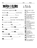 French interpersonal speaking activity: Mad Libs about SCHOOL
