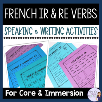 French -ir and -re verbs LES VERBES EN -IR ET -RE
