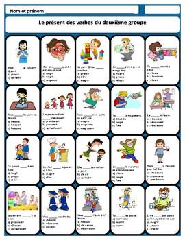 French -ir verbs conjugation, les verbes du deuxième group