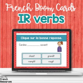 French -ir verbs task cards BOOM CARDS LES VERBES EN -IR