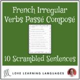French irregular verbs passé composé scrambled sentences exercise