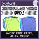 French irregular verbs worksheet bundle AVOIR FAIRE ÊTRE A