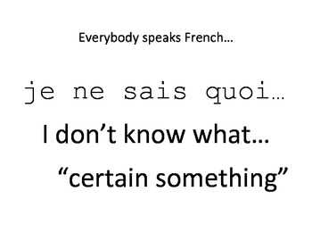 French is everywhere advocacy Posters