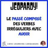 French jeopardy game - French passé composé of irregular v