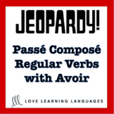 French jeopardy game - French passé composé of regular verbs with avoir