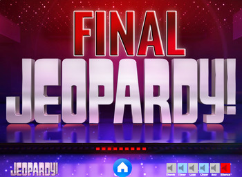 Regular French Verbs Ending in -ER:  French Jeopardy Game