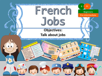 French jobs, les métiers PPT for beginners