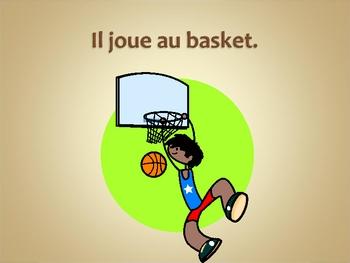 French jouer aou jouer de