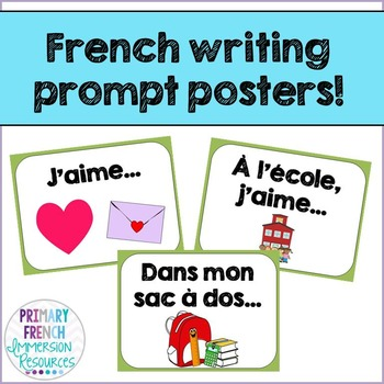 French journal/writing prompts - Les journaux
