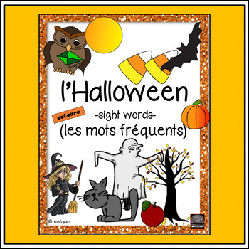 French – l'Halloween – les mots fréquents de l'Halloween