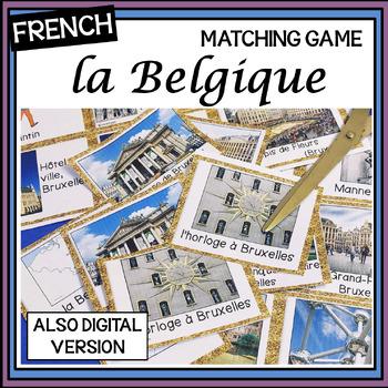 French – la Belgique – un jeu des paires – Belgium matching game