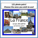 French – la France – un jeu des paires – a matching game