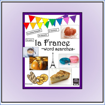 French - la France - word searches