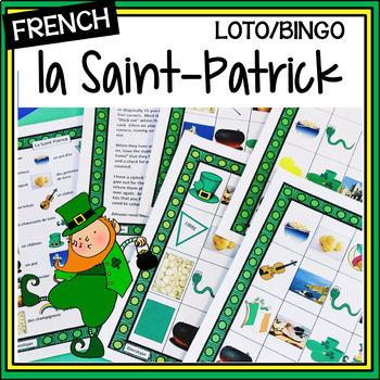 French – la Saint-Patrick - LOTO – Saint Patrick's Day BINGO