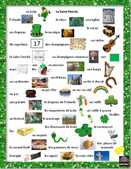 French – la Saint-Patrick – St. Patrick's Day – word scramble