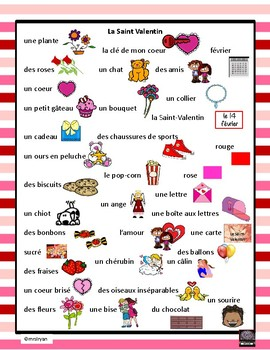 French – la Saint Valentin – Valentine's Day – letter scramble
