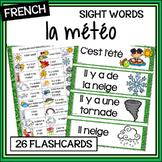 French – la météo – weather – les mots fréquents