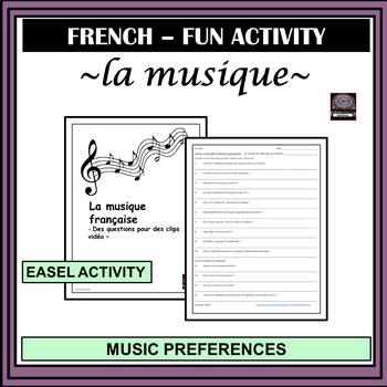 French – la musique française – French music video-clips activity
