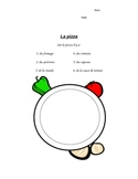 French la pizza drawing activity