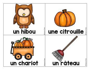French labels Harvest-Fall /L'automne et les récoltes - Mur de mots