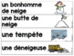 French labels Winter/ Hiver - Mur de mots