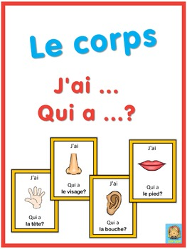 French le corps  J'ai ... Qui a ...? game