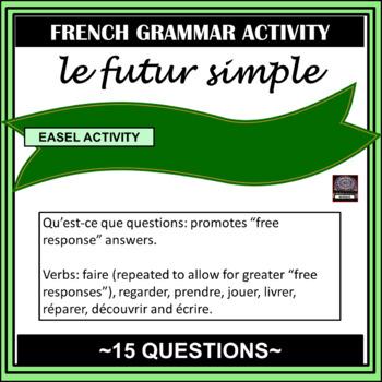 french le futur simple worksheet simple future by mrslryan tpt. Black Bedroom Furniture Sets. Home Design Ideas