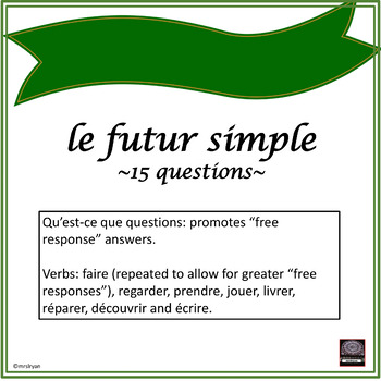French – le futur simple Worksheet (Simple Future)