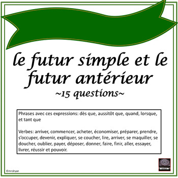 French – le futur simple et le futur antérieur #2 - worksheet