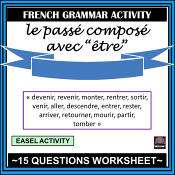 """French – le passé composé with """"être"""" - worksheet and answer key by ..."""