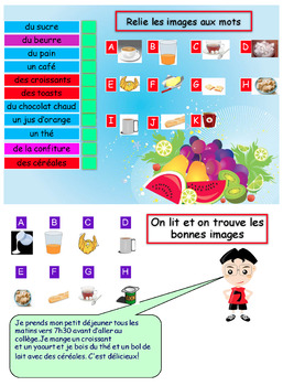French breakfast, petit déjeuner booklet for beginners