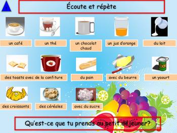 French breakfast, petit déjeuner, PPT for beginners