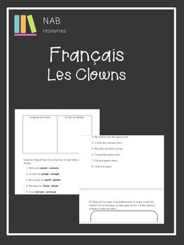 French - les clowns - les emotions