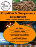 """French: """"les propriétés et changements de la matière"""", Sci"""