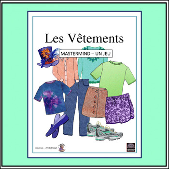 """French – les vêtements/clothing and """"Classroom Mastermind"""""""