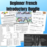French Level 1 Introductory Unit Bundle