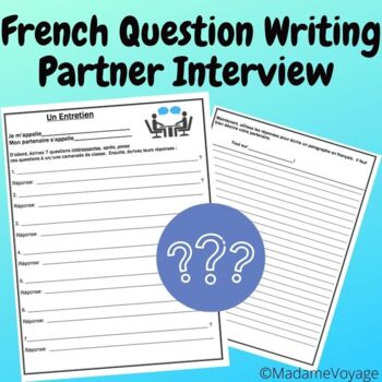French level 1 partner interview and presentational writing