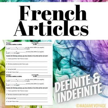 French level 1 warm up for articles