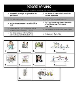 French listening activity: 1jour1actu.com video about RESTOS DU COEUR